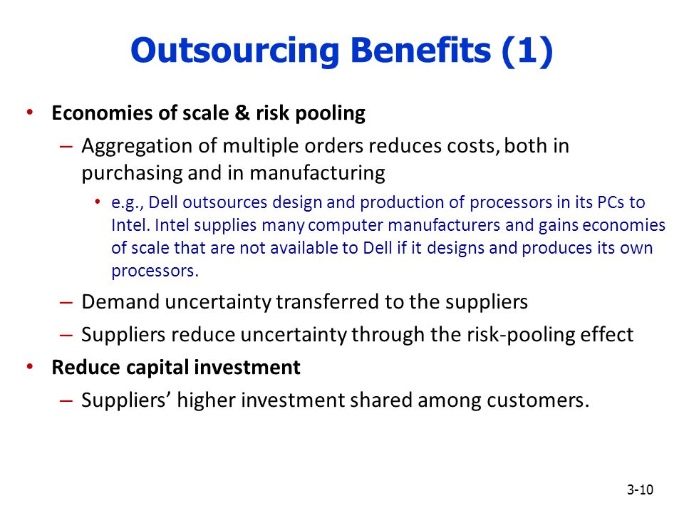 outsourcing and its benefits Have you been mulling over the idea of outsourcing one or more tasks or employment opportunities from product development to sales and marketing, there are a variety of benefits of taking this approach with outsourcing growth expected in the years to come, there may never be a better time to learn.