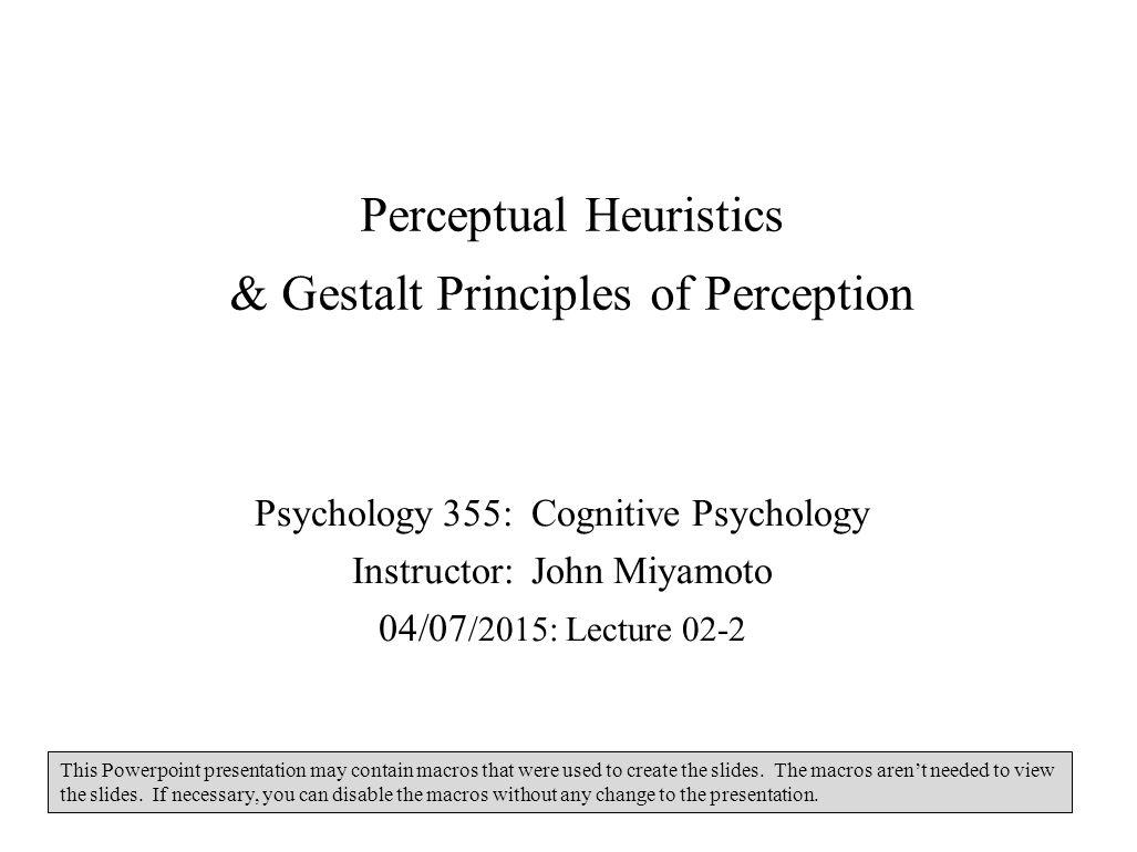 gestalt theory of perception