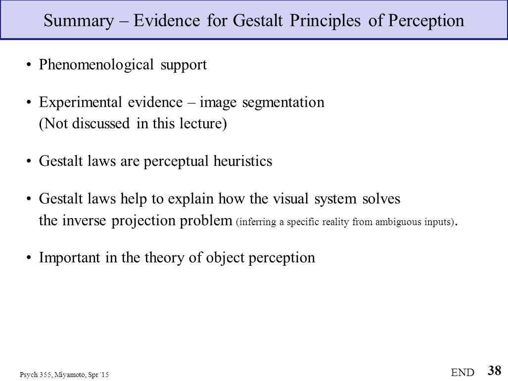 Visual Perception Theory
