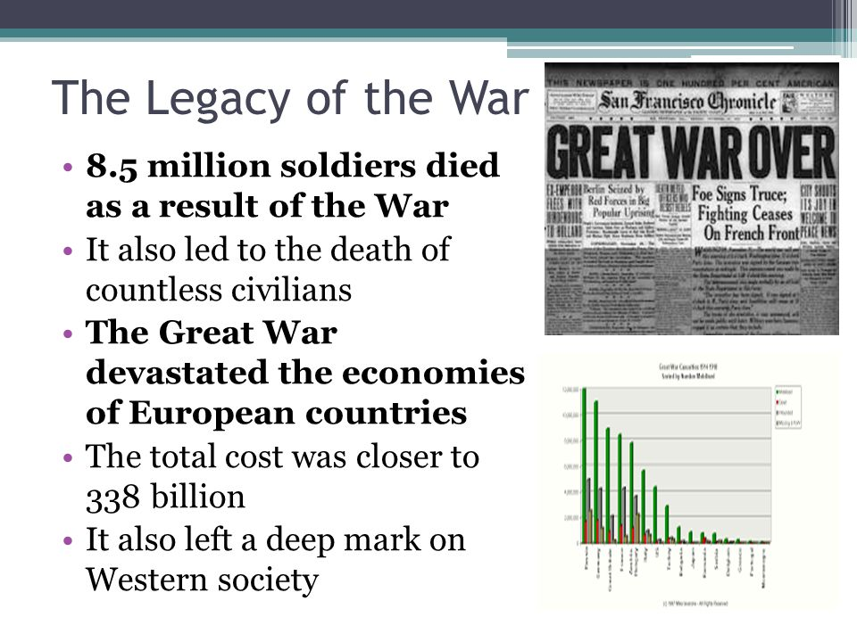 An essay on the legacy of the great war