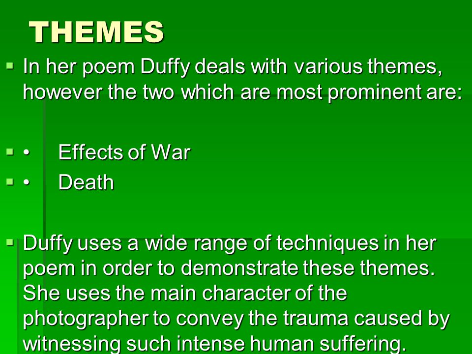 the use of death as a theme in modern poetry American international journal of contemporary research vol 5, no 4 august   and phonology both the poems are based on universal theme of death  he  uses multiple literary devices to enhance the aesthetic side of poetry along with.