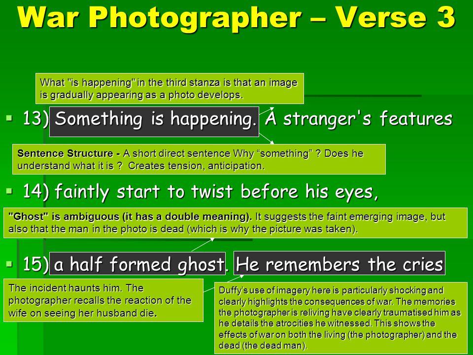War photographer carol ann duffy essay