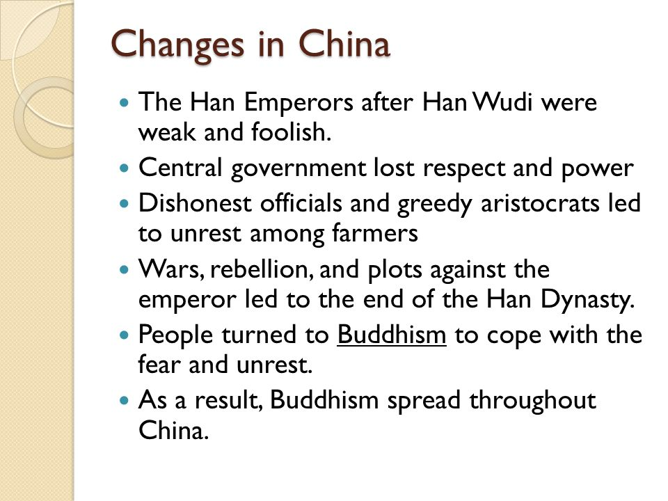 the spread of buddhism in china after the fall of the han dynasty Han buddhism refers to the buddha's religion spreading in han area and mingling with han culture buddhism formally spread into china, mainly han area during the han.