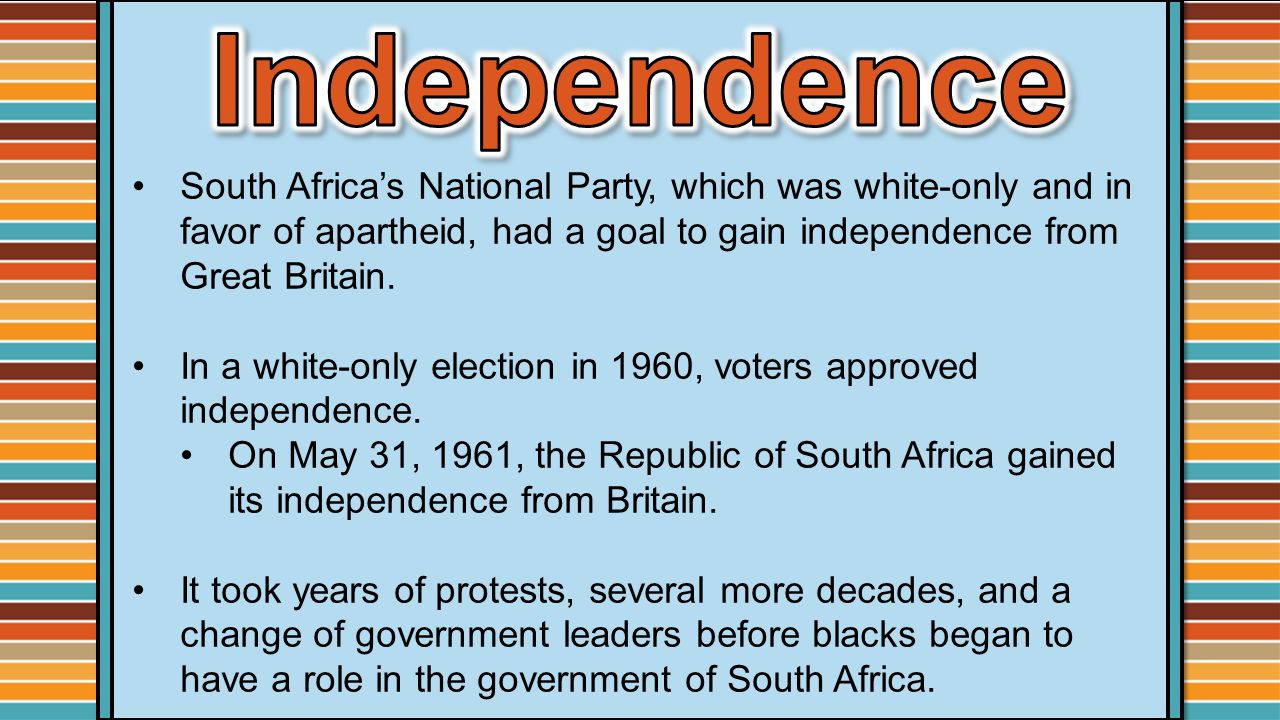 an analysis of the apartheid in the republic of south africa A secret south african defense force unit created in 1986 with the purpose of disrupting anti-apartheid activities in south africa and abroad by assassinating oppositional leaders and destroying anc facilities.