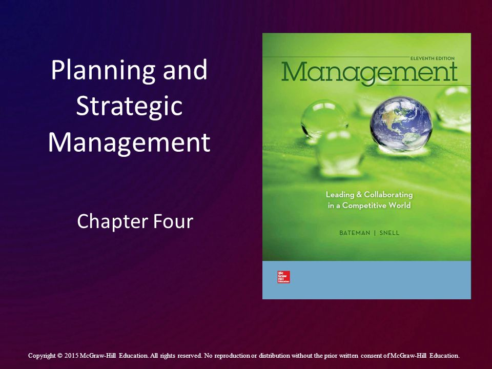 Planning and Strategic Management