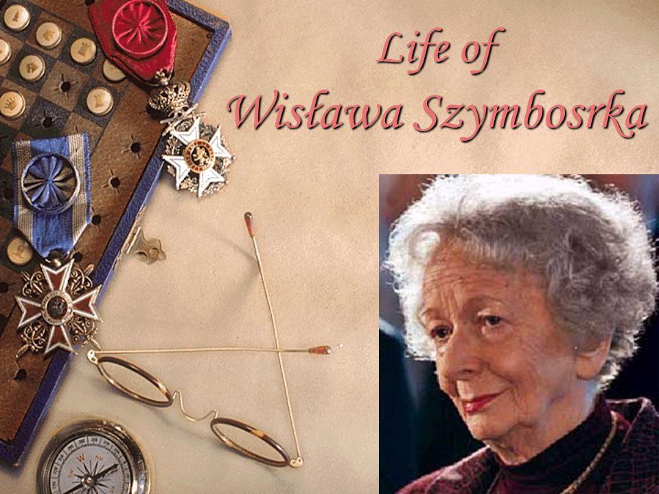 Life of Wisława Szymbosrka