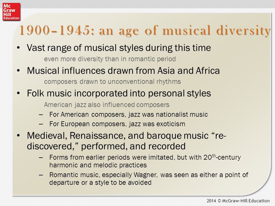 influence of american jazz on twentieth century composers 1 identify the important social, political, and technological developments of the 20 th century and determine their influence on the creation and evolution of jazz.