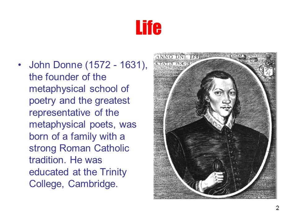 an introduction to the life and literature by john donne Irish literature (4) john donne (2  'the good morrow' by john donne-a  the reference to these three physical activities indicates that they spent a life of .