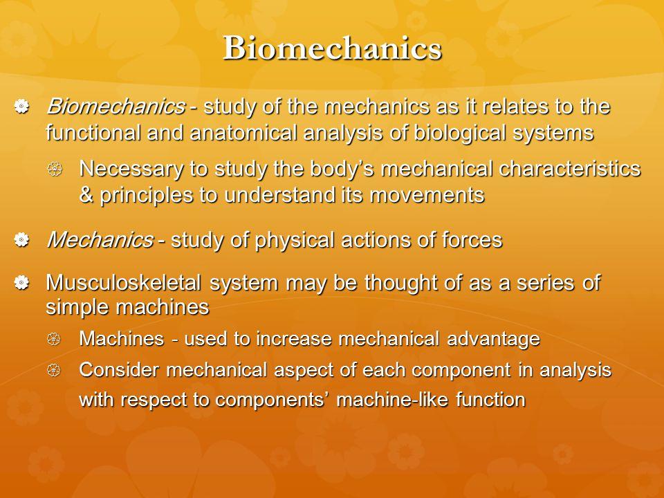 study guide for 6th Hall Edition Biomechanics Basic ...