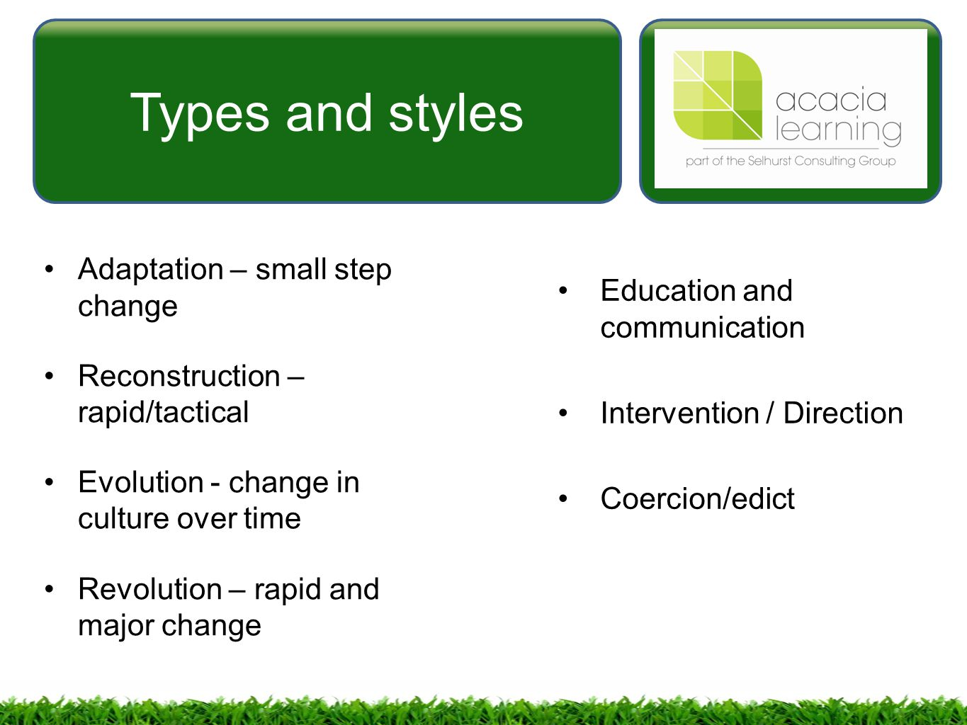 types of communication based on the style and purpose Choice of communication channel and your style of communicating also affect communication so, there is variety of types of communication types of communication based on the communication channels used are:.