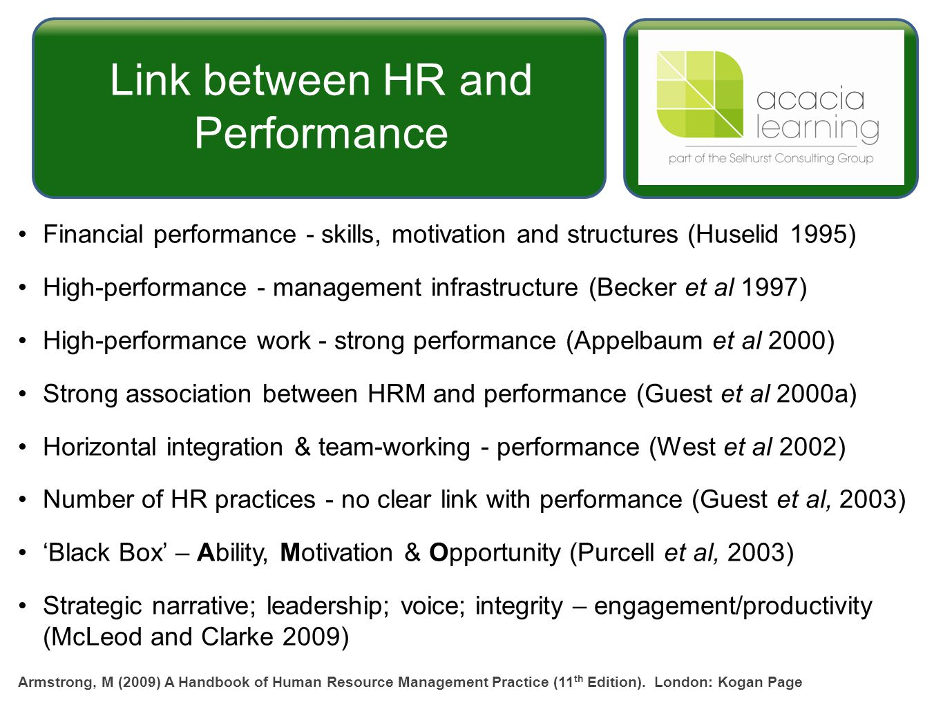 the primordial link hrm and workplace Human resource practices and organizational human resource practices and organizational commitment suggesting that the impact of hrm is likely to work.