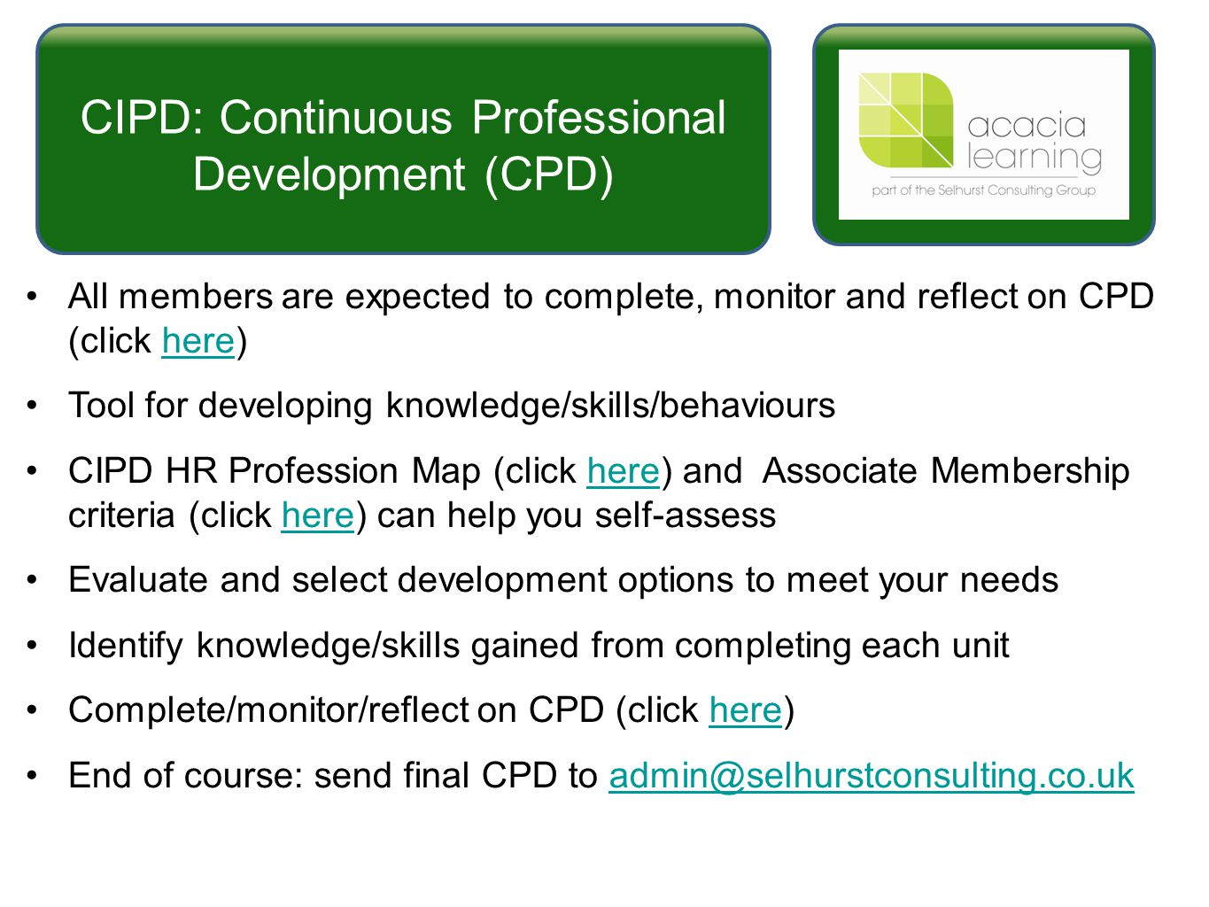 cipd hr profession map