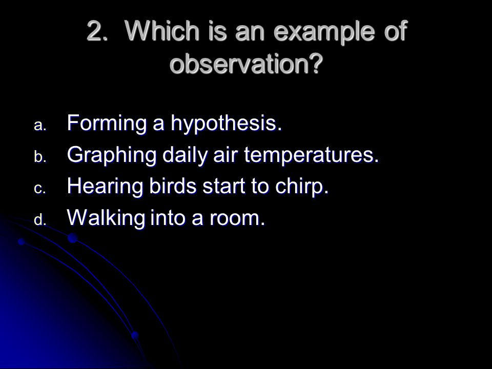 Scientific hypothesis format