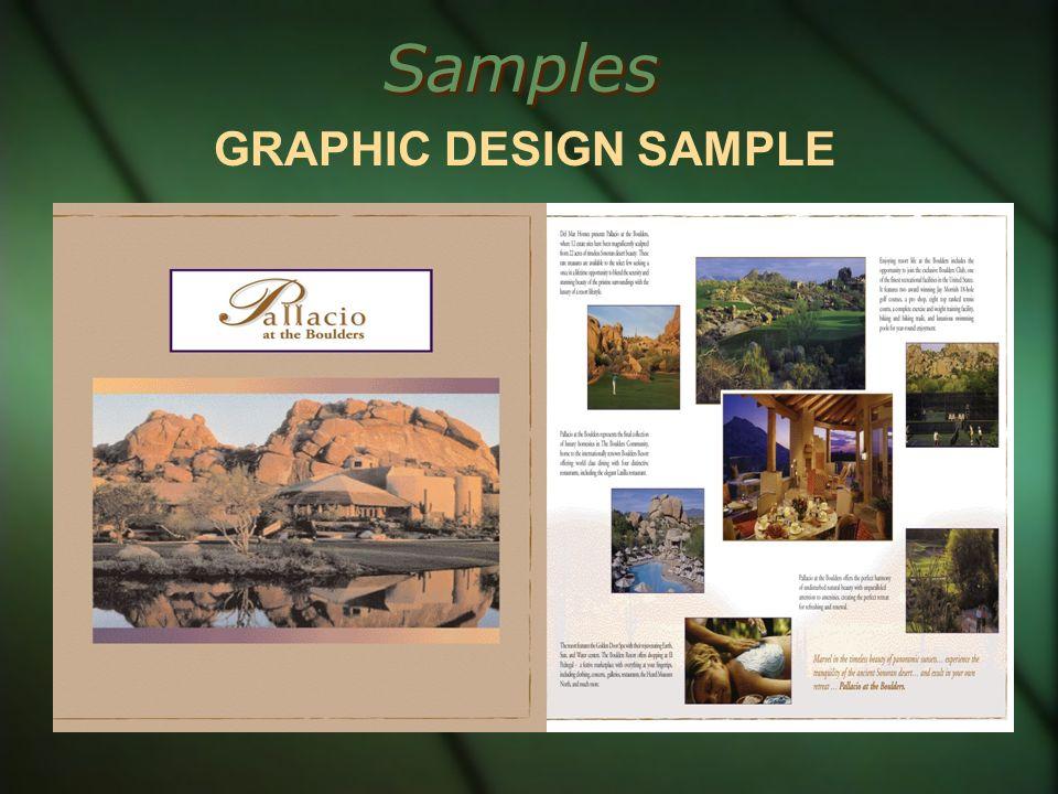 Samples GRAPHIC DESIGN SAMPLE