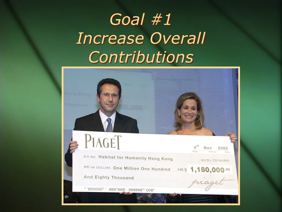 Goal #1 Increase Overall Contributions