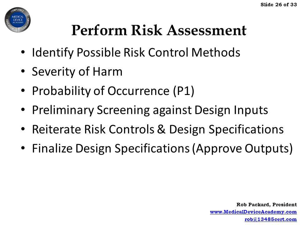 Perform Risk Assessment
