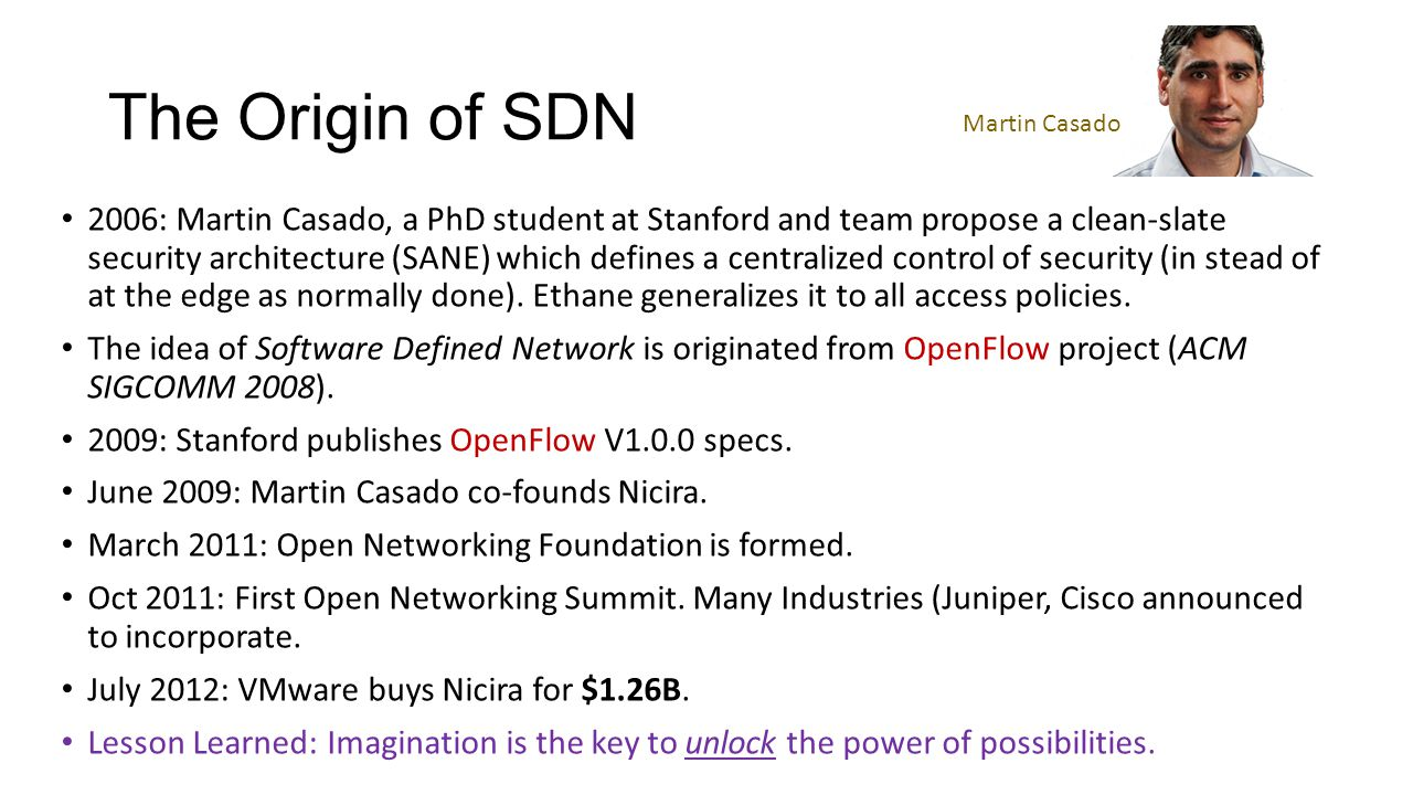 Introduction to software defined network sdn ppt video online the origin of sdn martin casado baditri Images