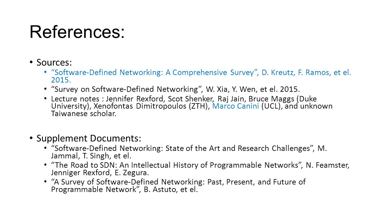 Introduction to software defined network sdn ppt video online conclusion key ideas of sdn 40 references baditri Images