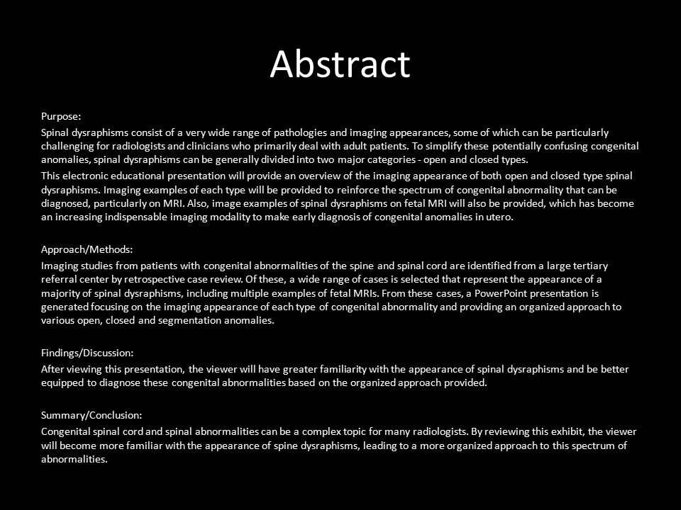 Abstract Purpose: