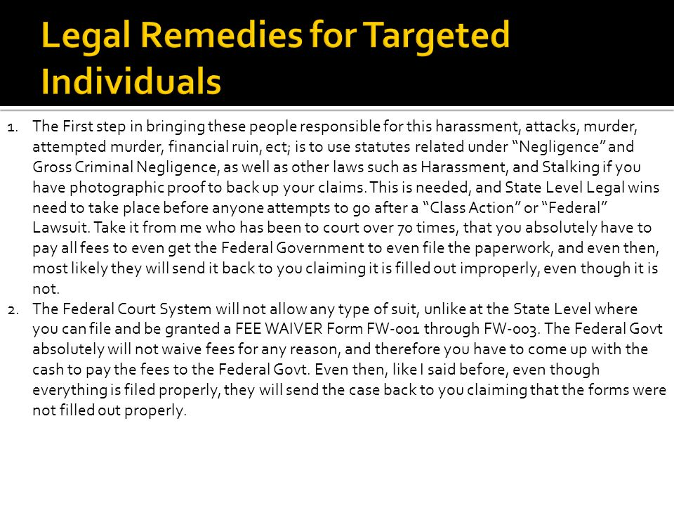 Targeted Individuals 101 Basics Of Ppt Download