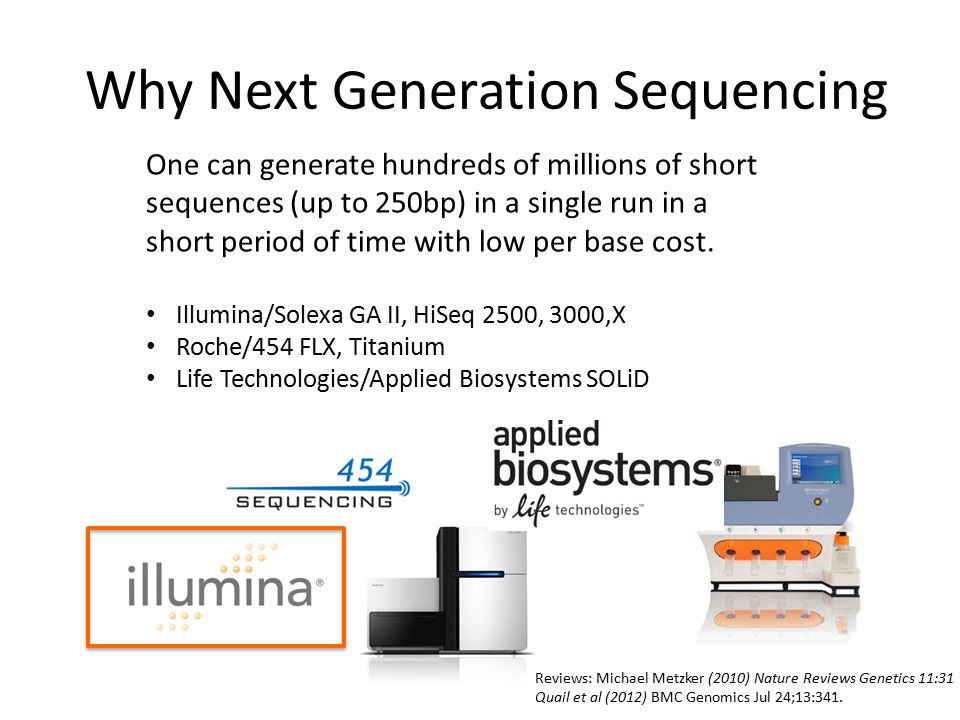 Why Next Generation Sequencing