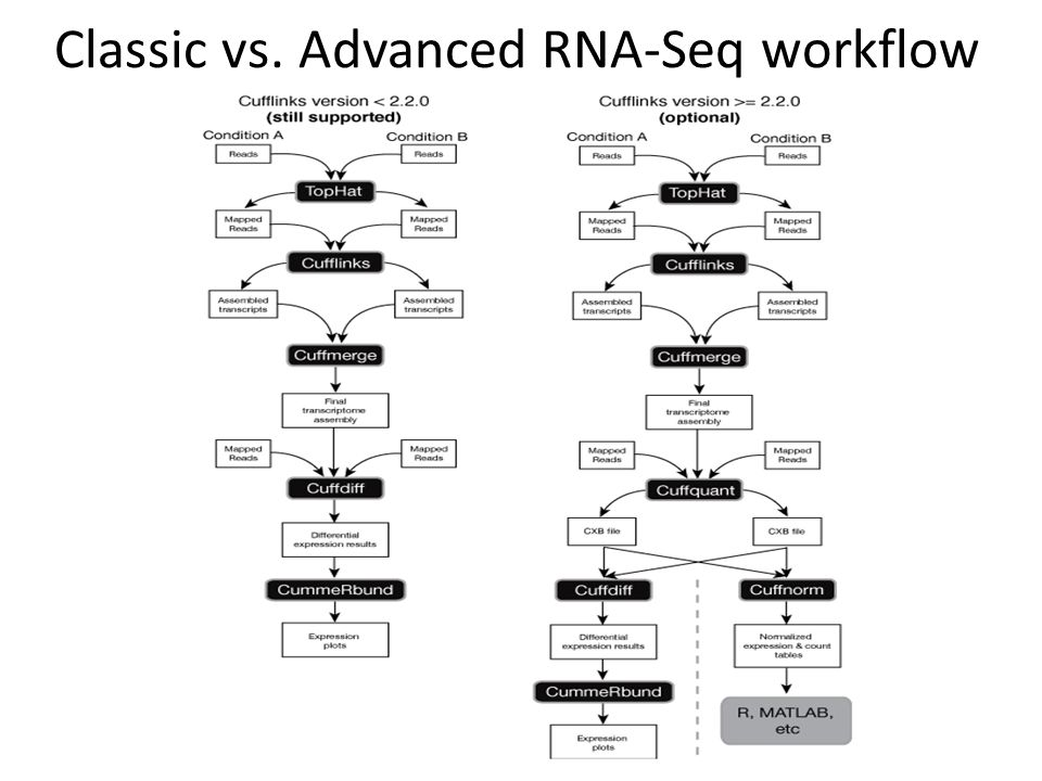 Classic vs. Advanced RNA-Seq workflow