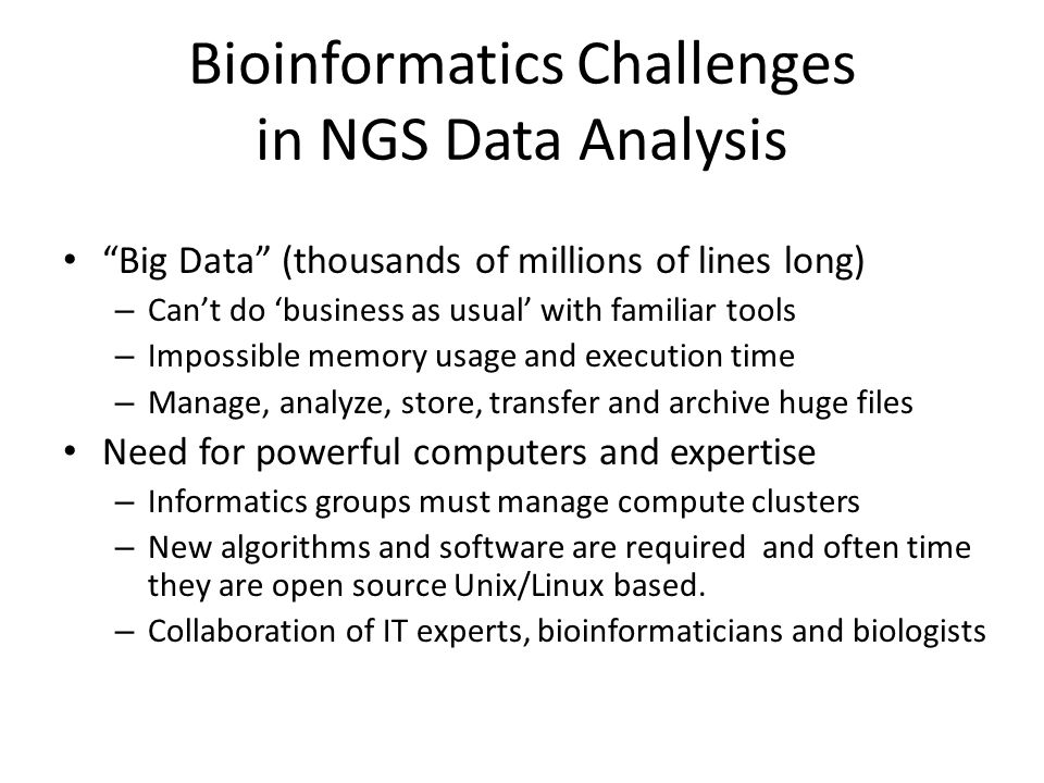 Bioinformatics Challenges in NGS Data Analysis