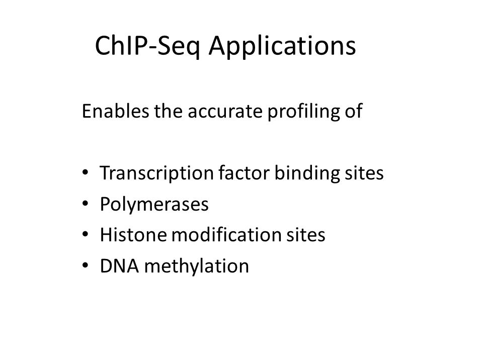 ChIP-Seq Applications