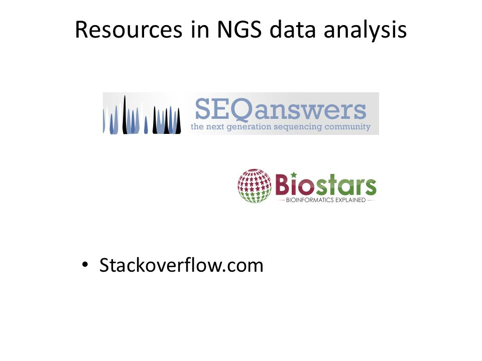 Resources in NGS data analysis