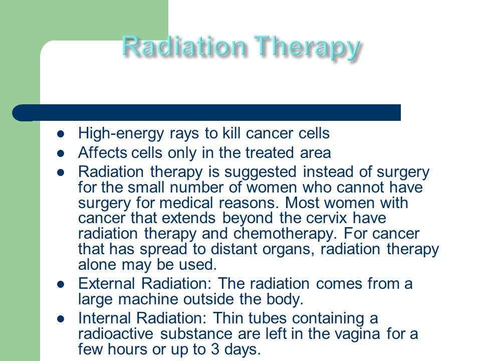 when radiation therapy kills Radiation therapy uses radiation to kill or damage cancerous (abnormal) cells   it is one of the best-established, most effective and well tolerated therapies for.