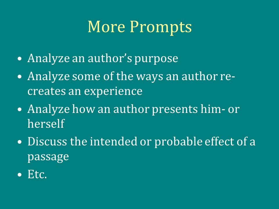 analysis essay prompts Ideas for great cause and effect essays and easy instructions for how to write your paper.
