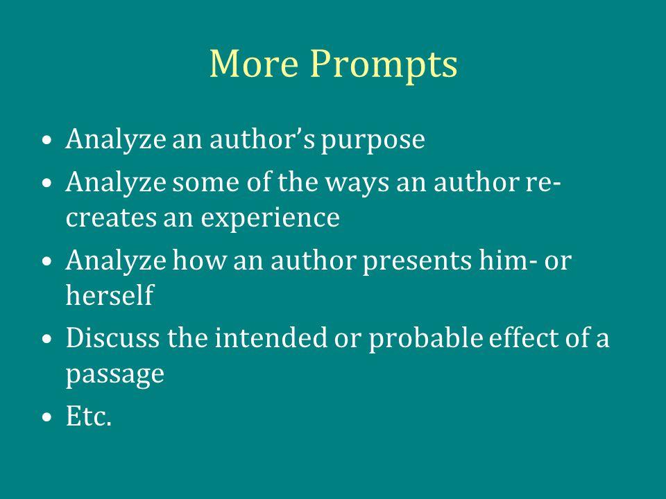 author analysis essay