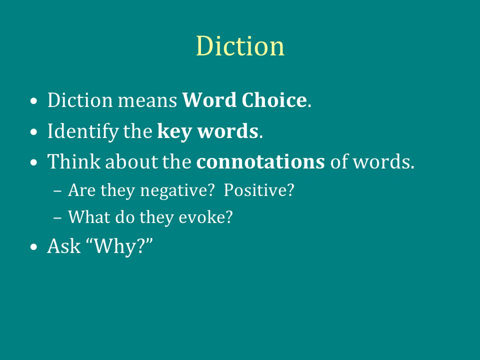 the rhetorical analysis essay ppt  6 diction
