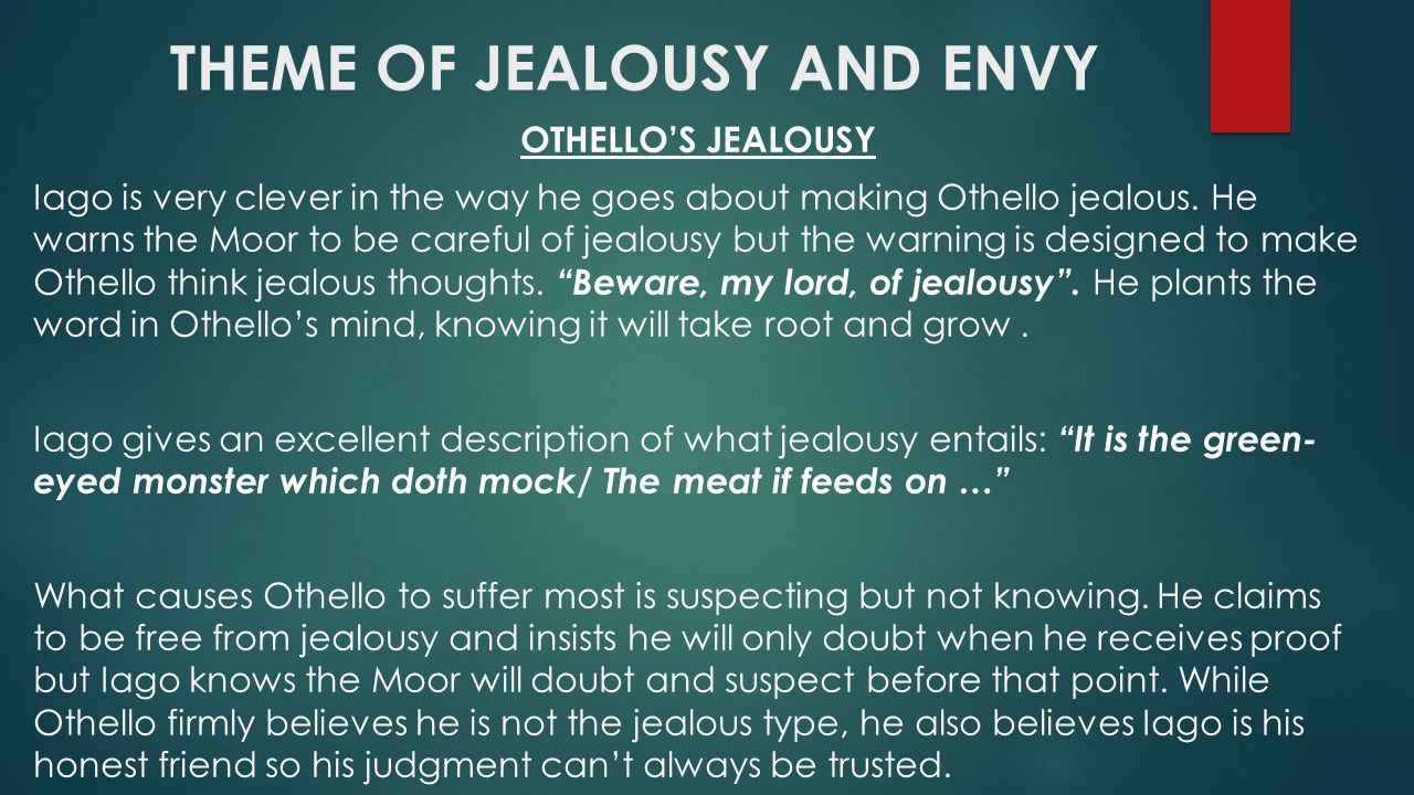 othello research paper jealousy