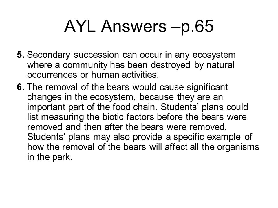 3 3 succession  how ecosystems change over time