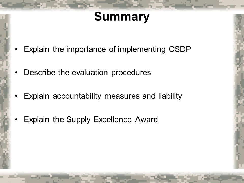 summary and evaluation the importance on 2006-1-10  strategic evaluation and control  at the end of this module you should be able to: explain the importance of evaluation and control to the strategic management.