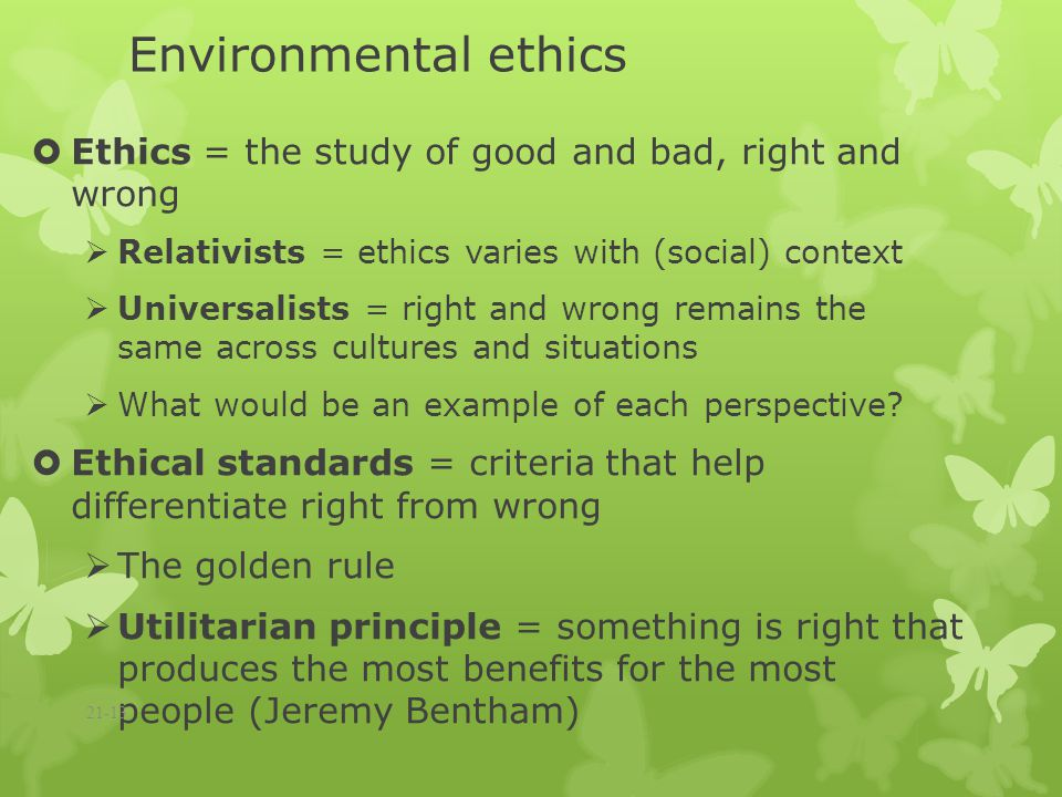 the analysis of environmental ethics and The ecological ethics and systemic thought of pope francis  the systems view  of life will be the conceptual basis of my analysis of the.