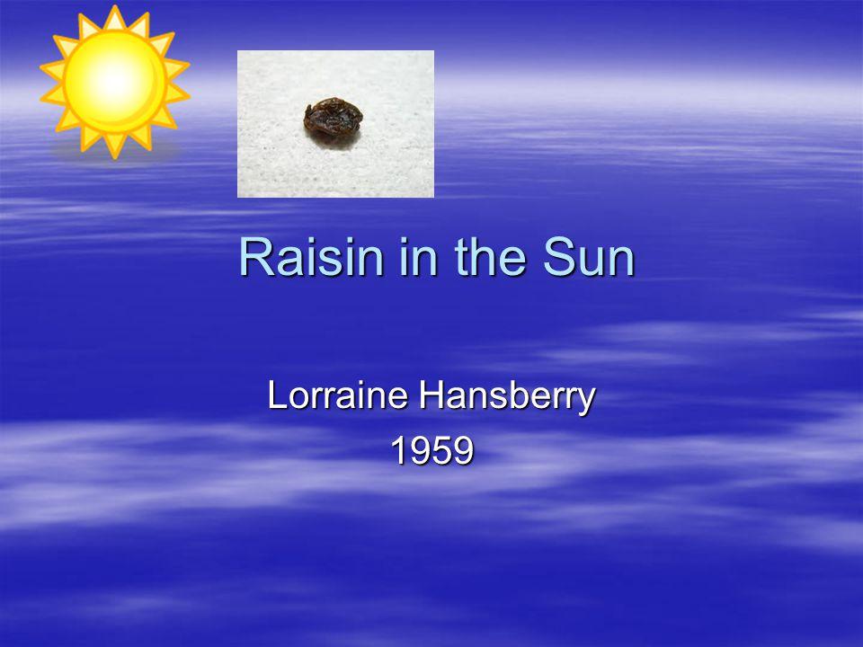 a raisin in the sun critical lens essays