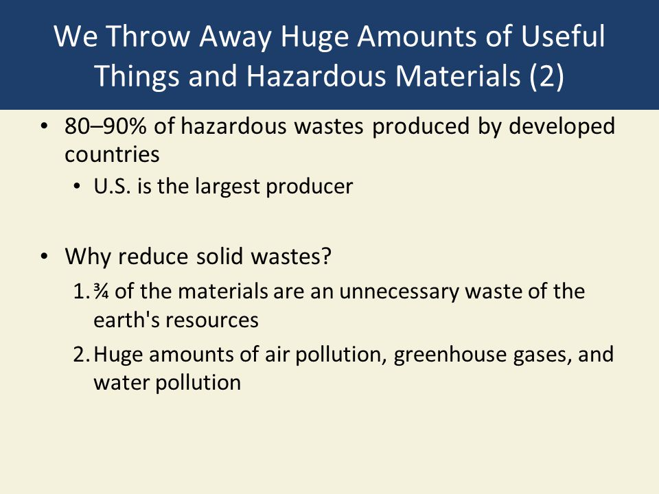 Chapter 21 solid and hazardous waste ppt download for Waste things useful material