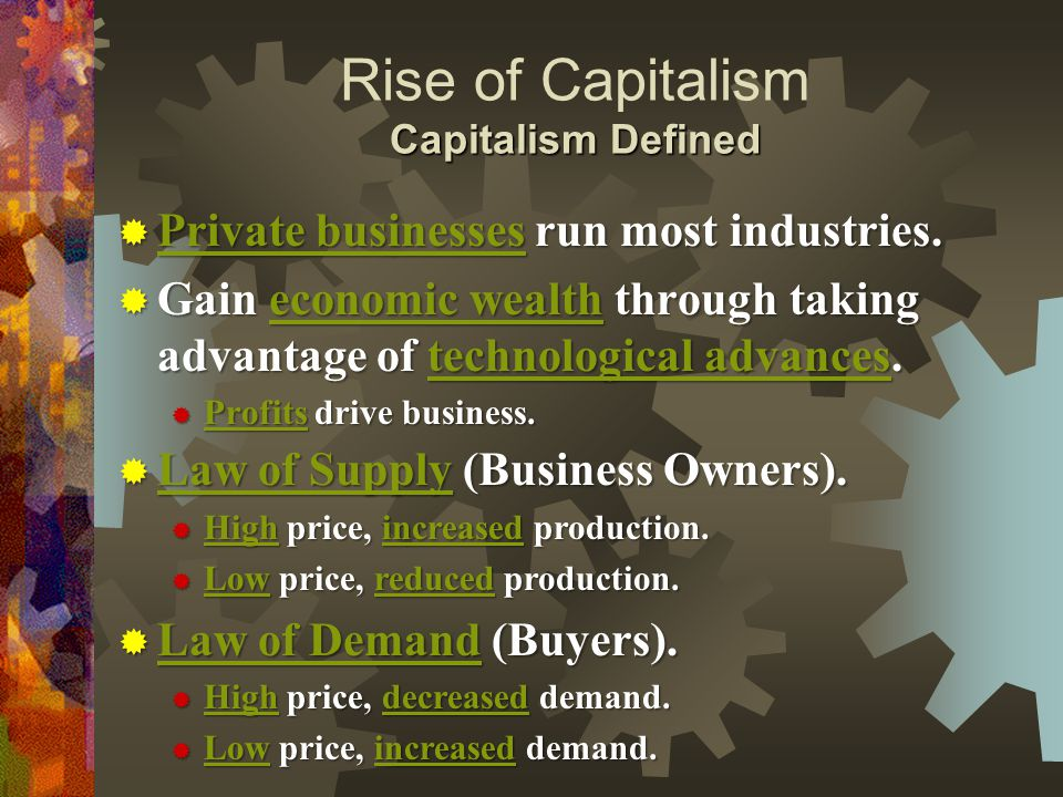 the rise of capitalism pdf