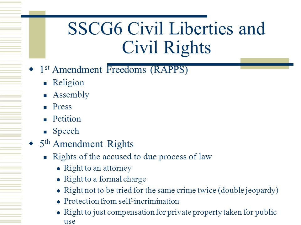 1 Civil Liberties and Civil Rights