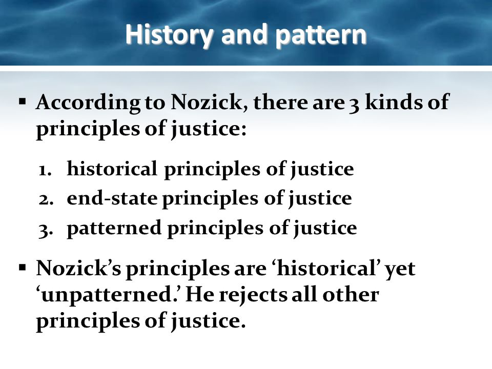 "rules of justice according to nozick With respect to political philosophy, nozick was a right-libertarian, which in short   however, no more expansive function of the state can be justified according to  nozick, which  to do this nozick developed his ""entitlement theory of justice   just so long as all agree to the rules of the group, they could agree to form a."