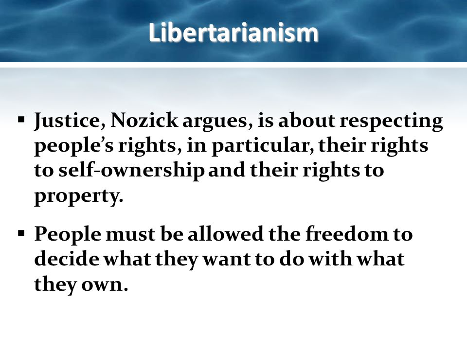 libertarianism and redistribution of wealth Liberty pen: milton friedman- redistribution  the real debate is to what degree of wealth redistribution we should have and what  libertarianism (23).