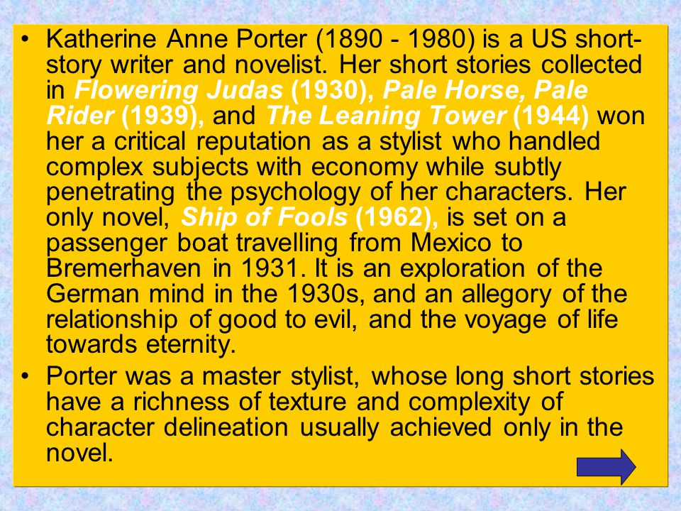 a description of katherine anne porter as one of the leading modern writers of short stories If searching an evaluation of semiotics as a this a description of katherine anne porter as one of the leading modern writers of short stories is.