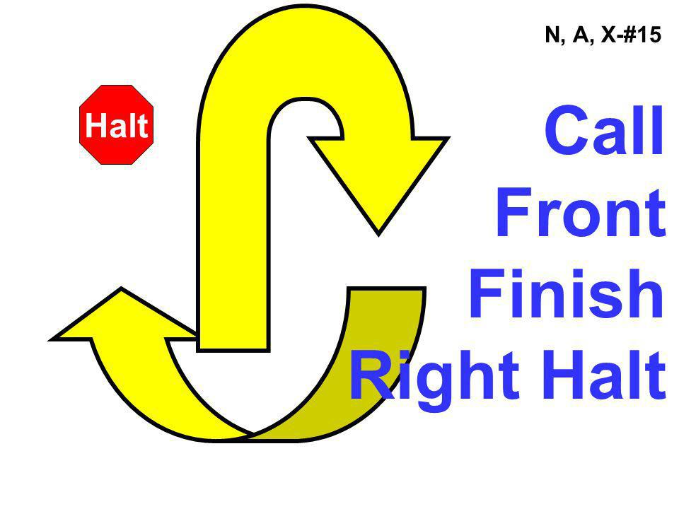 N, A, X-#15 Halt Call Front Finish Right Halt