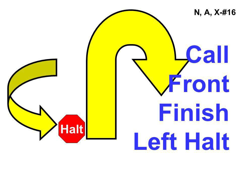 N, A, X-#16 Call Front Finish Left Halt Halt