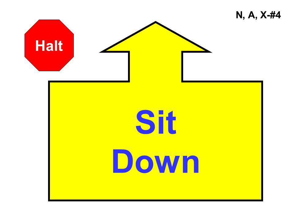 N, A, X-#4 Sit Down Halt