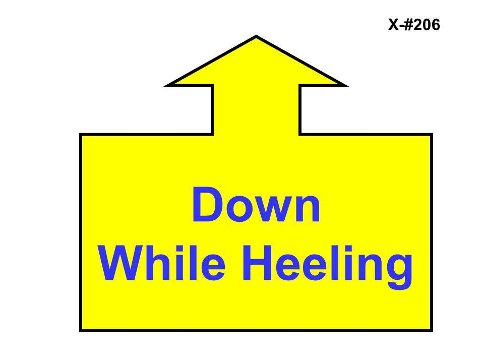 X-#206 Down While Heeling