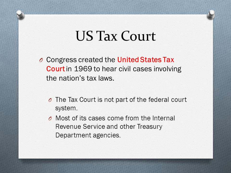 Us tax court practitioner study