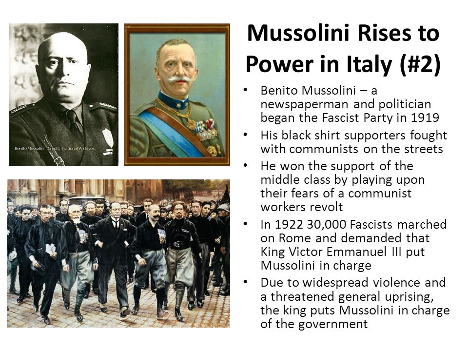 Mussolini Rises to Power in Italy (#2)
